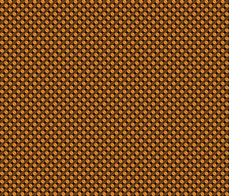 Geometric Pattern: Leaf: Orange/Black fabric by red_wolf on Spoonflower - custom fabric