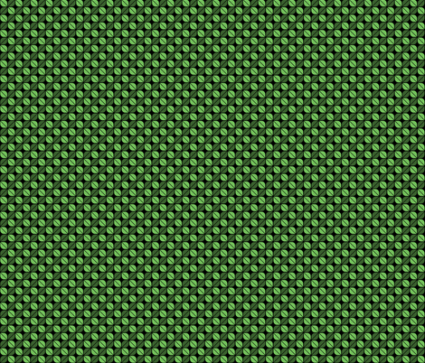 Geometric Pattern: Leaf: Green/Black fabric by red_wolf on Spoonflower - custom fabric