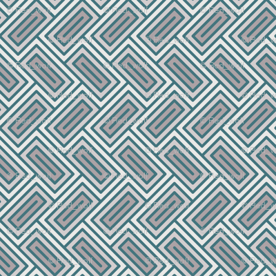 Geometric Pattern: Falling Rectangle: Ceramic