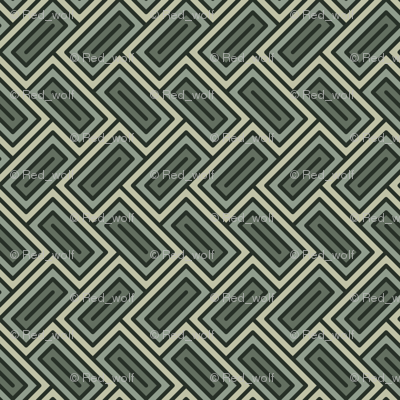 Geometric Pattern: Falling Rectangle: Forest