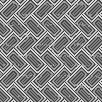 Geometric Pattern: Falling Rectangle: Grey