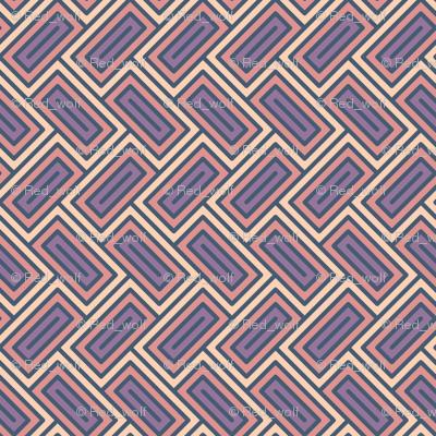 Geometric Pattern: Falling Rectangle: Sunset