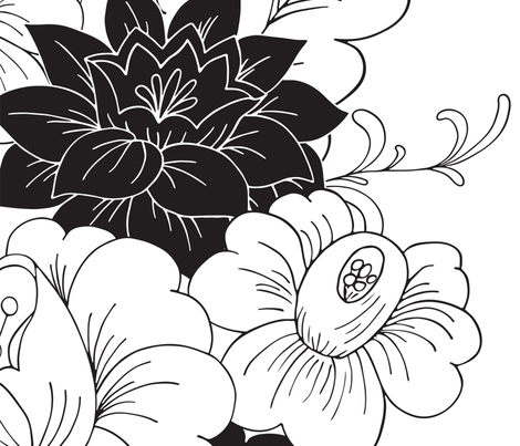 black_and_white fabric by irynmerry on Spoonflower - custom fabric