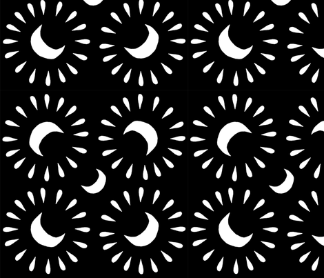 Midnight sky fabric by mia_moon on Spoonflower - custom fabric