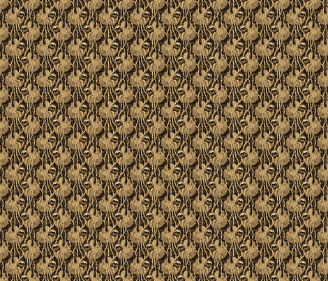 sloth cloth sepia 2x2 fabric by leroyj on Spoonflower - custom fabric