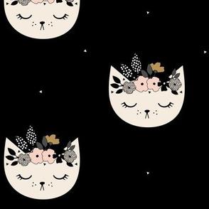Cat Blossom - Black