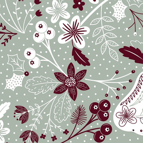 Partridge in a pear tree gift wrap