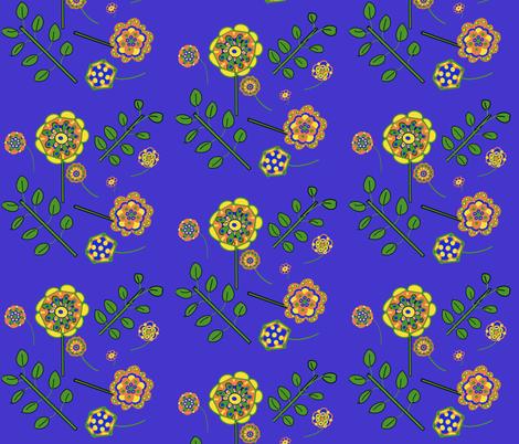 Folk Art fabric by vickylewis on Spoonflower - custom fabric