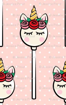 (Large Scale) Unicorn Cake Pops - Rose