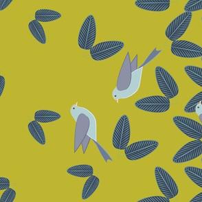 Swallows Border Goldenrod