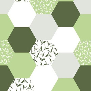 tea leaf hexagons - green