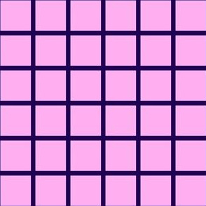 Grid Pink/Dark purple