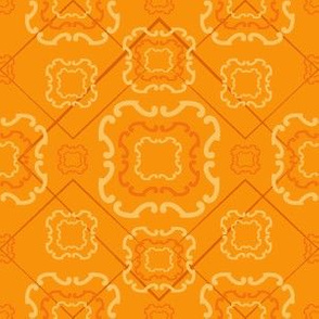 Diamond Floral Ribbon Orange