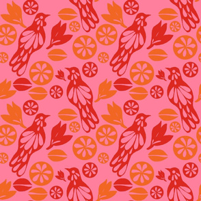 retro tui pattern pink