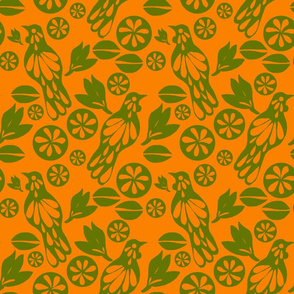 retro tui green orange