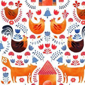 Fox amongst the chickens scandi style