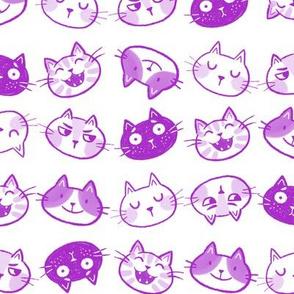 Funny Felines Purple