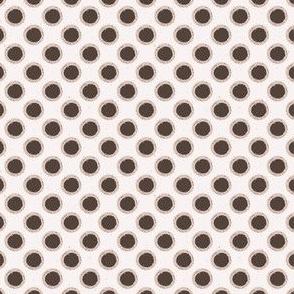 Winter Rustic Polka Dots Lino Cut Texture Sketchy