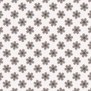 Winter Rustic Snowflake Lino Cut Texture Sketchy