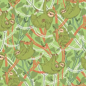 Mossy Green Sloths