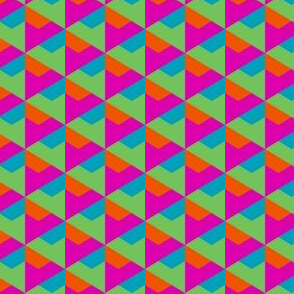 Geometric Pattern: Hexagon Triangle: Pop