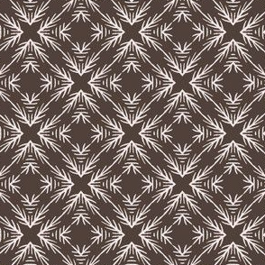 Winter Rustic Fir Branch Lino Cut Texture Sketchy