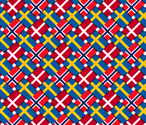 Scandinavian Flag Weave fabric by anneostroff on Spoonflower - custom fabric