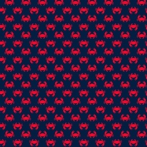 (extra small scale) crabs (navy and red) - nautical C18BS
