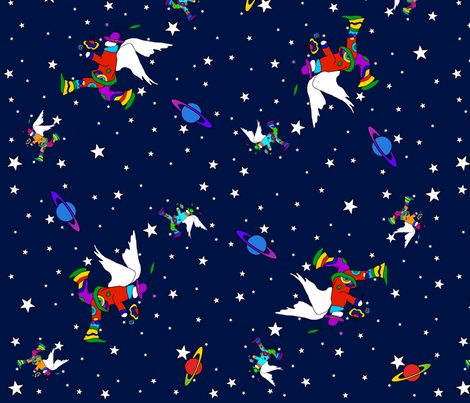 Angel Dudes in Space2-small fabric by sssowers on Spoonflower - custom fabric
