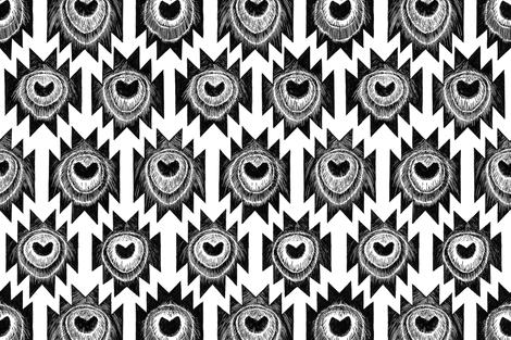 ICONIC peacock ziggurat - GIANT layout fabric by ruth_cadioli on Spoonflower - custom fabric