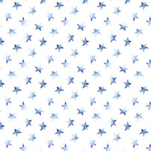 Tiny baby blue stars || watercolor night sky pattern for nursery
