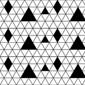Black and white geometric triangles