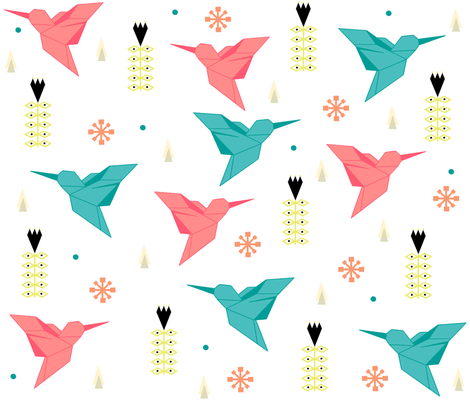 Scandinavian birds. fabric by maria81 on Spoonflower - custom fabric