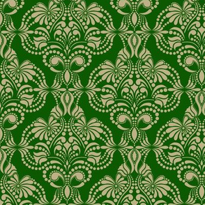 Green and Gold Arabesque