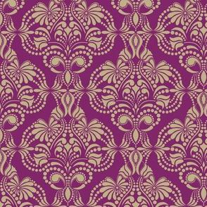Purple and Gold Arabesque
