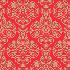 Red and Gold Arabesque