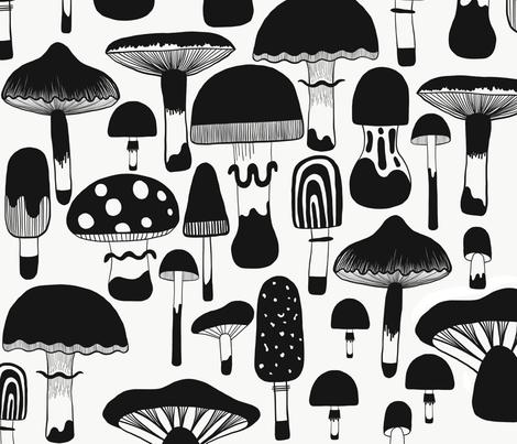 Fungi fabric by ruth_robson on Spoonflower - custom fabric