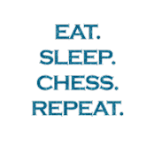 Eat Sleep Chess Repeat Mermaid Ocean Blue Glitter Color Text