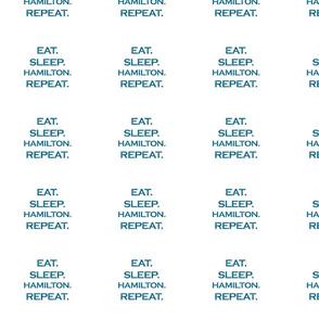 Eat Sleep Hamilton Repeat Mermaid Ocean Blue Glitter Color Text