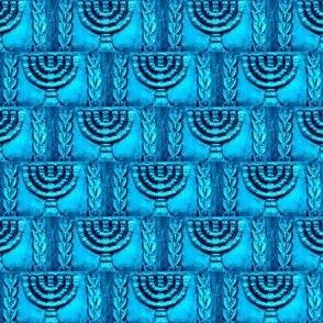 Ancient Menorah - Turqouise