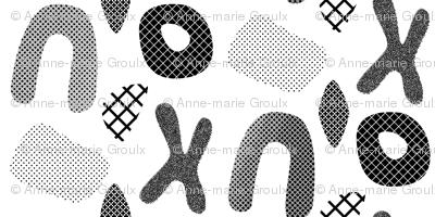 Halftones papercut (White and black)