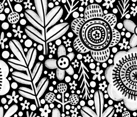 woodland mono large scale fabric by stamptout on Spoonflower - custom fabric