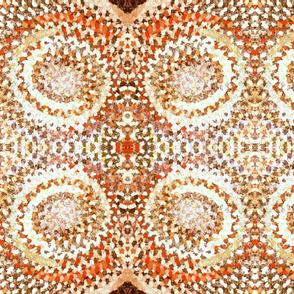 braid rug coral