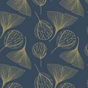 Blue golden leaves