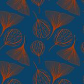 Orange and blue leaves