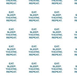 Eat Sleep Theatre Repeat Mermaid Ocean Blue Glitter Color Text
