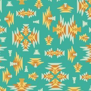 Ethnic geometric kilim woven