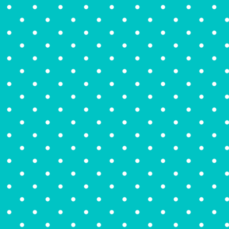Polka dot on turquoise fabric by tuppencehapenny on Spoonflower - custom fabric