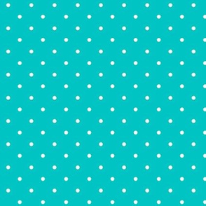 Polka dot on turquoise