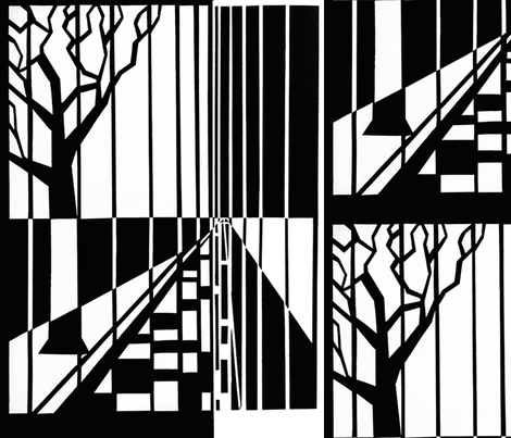 bw_tree_lines fabric by roll_d on Spoonflower - custom fabric